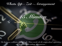 WhatsApp Zeit-Arrangement 15 Minuten